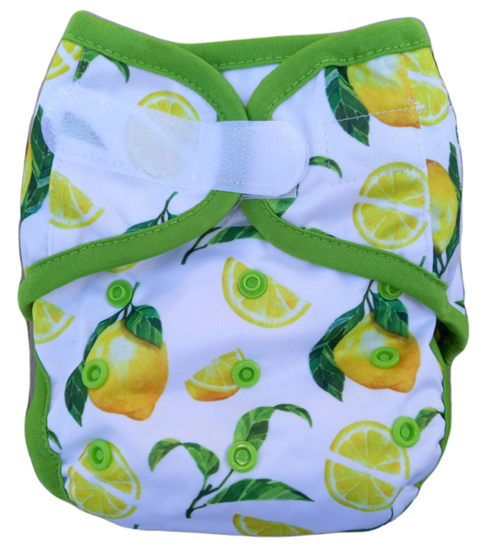 Fluffy Nature cover Onesize (velcro) (3,5-15kg) - Citrus