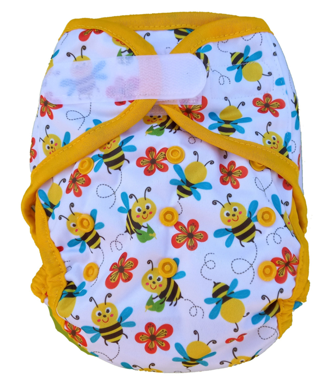 Fluffy Nature cover Onesize (velcro) (3,5-15kg) - Bees