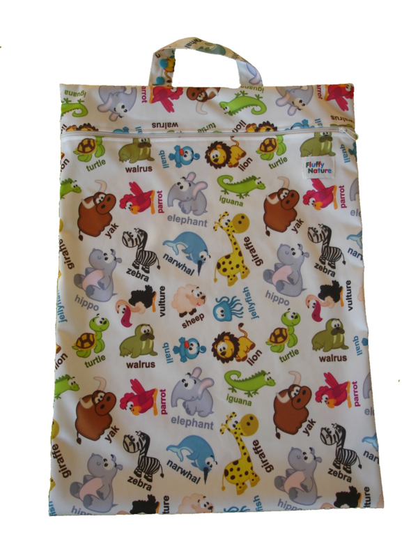 Fluffy Nature wetbag XL - Zoo