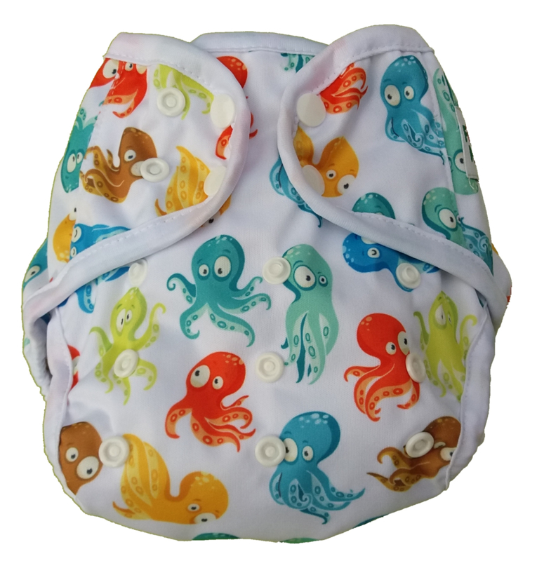 Fluffy Nature Überhose Snaps Onesize (3,5-15kg) - Colorful Octopus