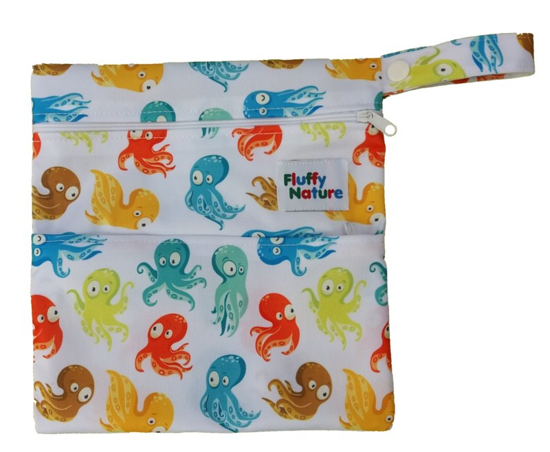 Fluffy Nature Mini-Wetbag Colorful Octopus