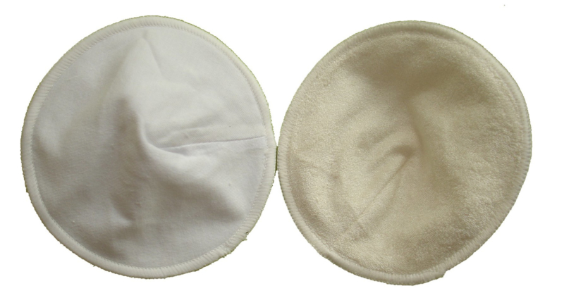 Fluffy Nature Bamboo Nusing Pads White - 3 Pair with mesh bag