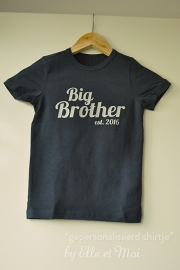 Gepersonaliseerd shirtje 'big brother'