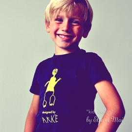 gepersonaliseerd shirtje met eigen kindertekening