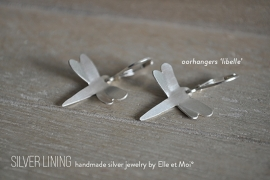 oorhangers 'libelle' • 925 Sterling zilver •
