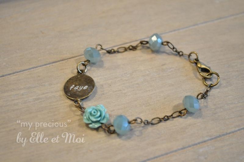 gepersonaliseerd armbandje 'my precious' brons • 1 naamplaatje •