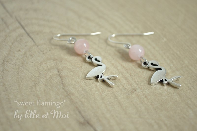 oorhangers 'sweet flamingo'
