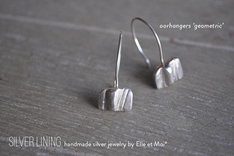 oorhangers 'geometric' • 925 Sterling zilver •