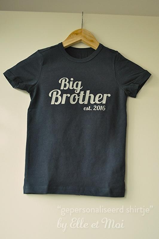Gepersonaliseerd shirtje 'big brother'