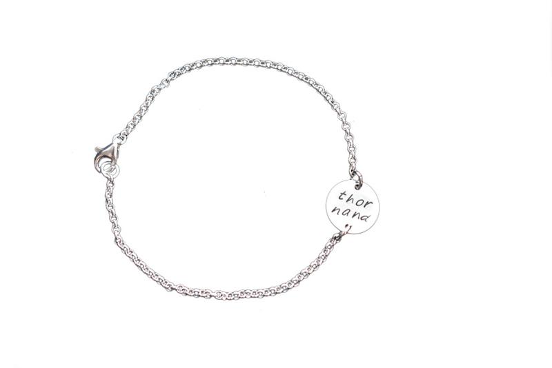 gepersonaliseerd armbandje 'My Precious'  Sterling Silver met 1 naamplaatje