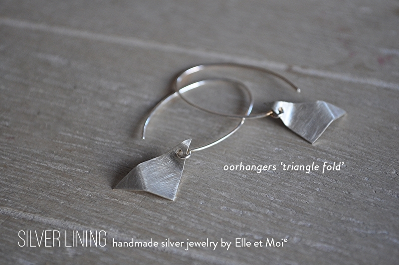 oorhangers 'triangel fold'  • 925 Sterling zilver •