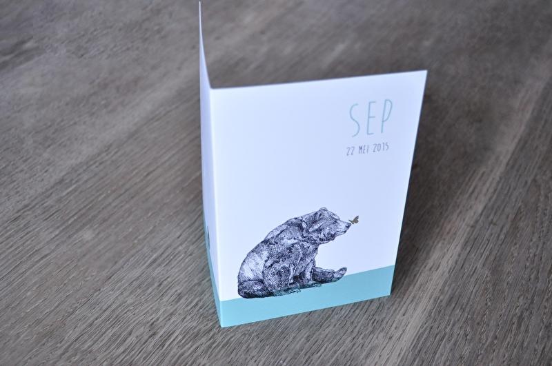 Geboortekaartje 'SEP'  • op maat gemaakt •