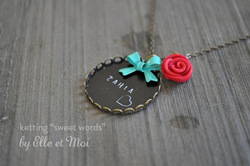 halsketting 'Sweet words'