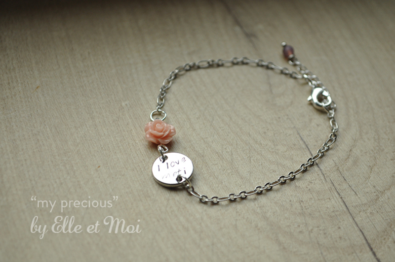 gepersonaliseerd armbandje 'my precious' verzilverd • 1 naamplaatje •