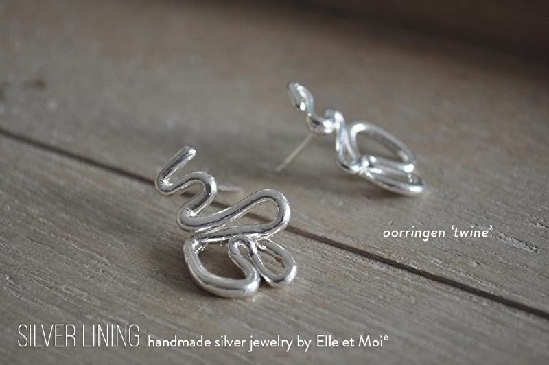 oorring 'twine' • 925 Sterling zilver •
