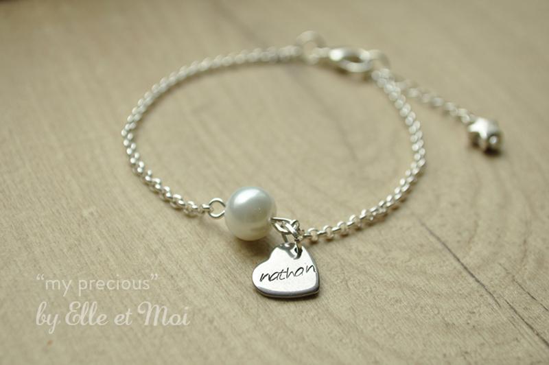 gepersonaliseerd armbandje 'my precious' verzilverd        • maatwerk •