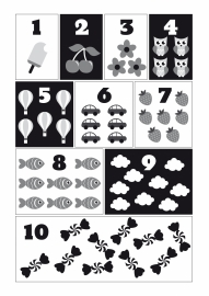 Poster Cijfers zwart-wit A3