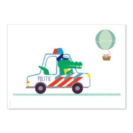 Ansichtkaart Politie krokodil