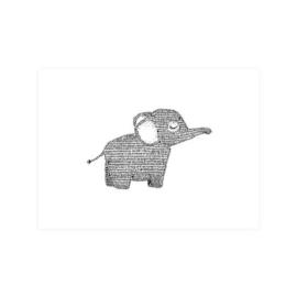 Ansichtkaart Olifant
