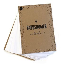 Babyshowerboek invulkaarten voor 10 gasten