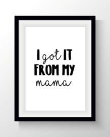 Ansichtkaart Mama