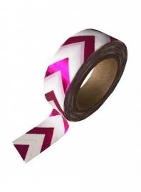 Masking tape pink foil zigzag