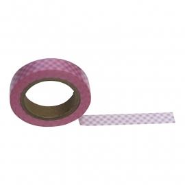 Masking tape geruit roze