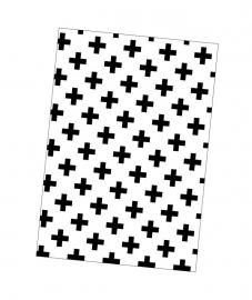 Kaart zwart-wit plusjes