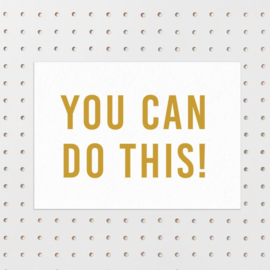 Kaart You can do this!