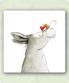 Kaart Liefde ezel en muis