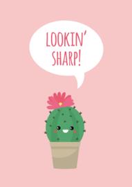 Ansichtkaart Mevrouw Cactus Looking sharp!
