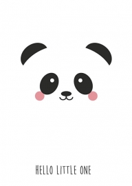 Poster panda Hello Little One A3