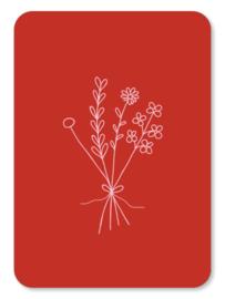 Minikaart Bos bloemen