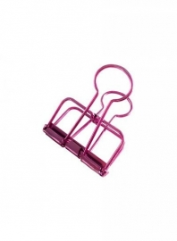 Binder clips roze