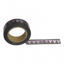Masking tape vlaggetjes slinger roze