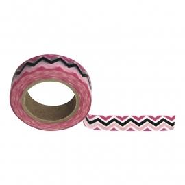 Masking tape zigzag roze