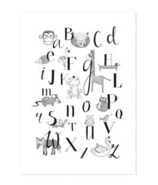 Ansichtkaart Dieren ABC