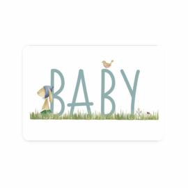 Kaart Konijn baby jongen
