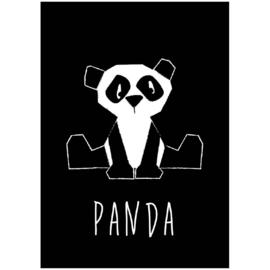 Kaart Panda zwart-wit