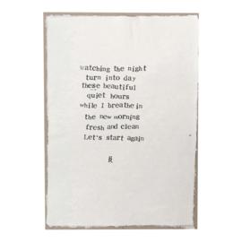 Poster Gedicht Breathe op handgeschept papier A4