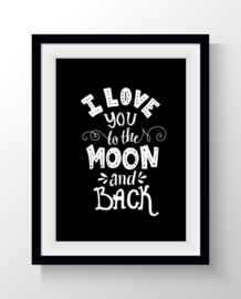 Poster I love you to the moon A4