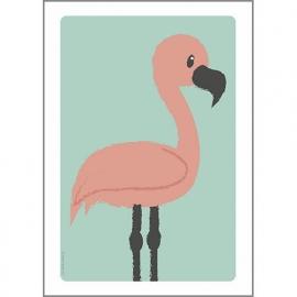 Poster Flamingo A4