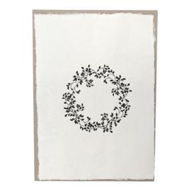 Poster Bloemenkrans op handgeschept papier A4