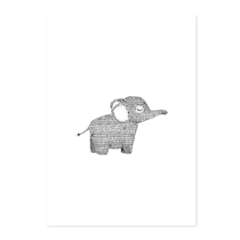 Poster Olifant A4
