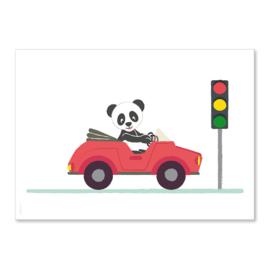 Poster Panda auto A4
