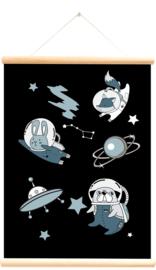 Schoolplaat Planeten