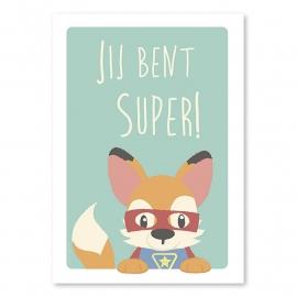 Ansichtkaart Super vos