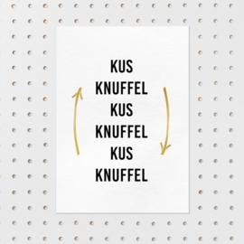 Kaart Kus knuffel en herhaal