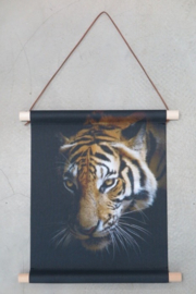 Textiel poster Tijger 38x30 cm
