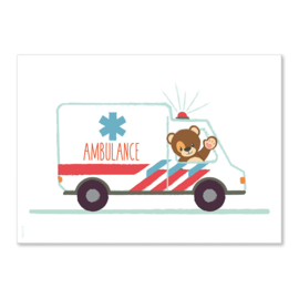 Poster Beer ambulance A4
